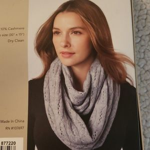 Celeste gray cashmere blend infinity scarf NWT